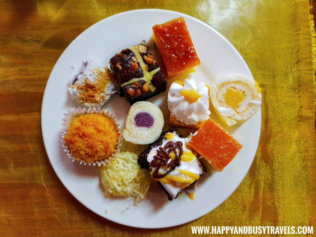 Dessert Plate D' Banquet Bakeshop and Restuurant Happy and Busy Travels to Tagaytay
