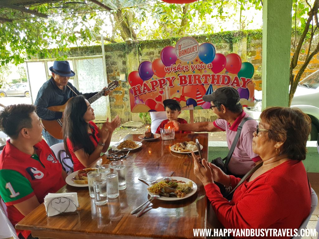 Birthday Song D' Banquet Bakeshop and Restuurant Happy and Busy Travels to Tagaytay
