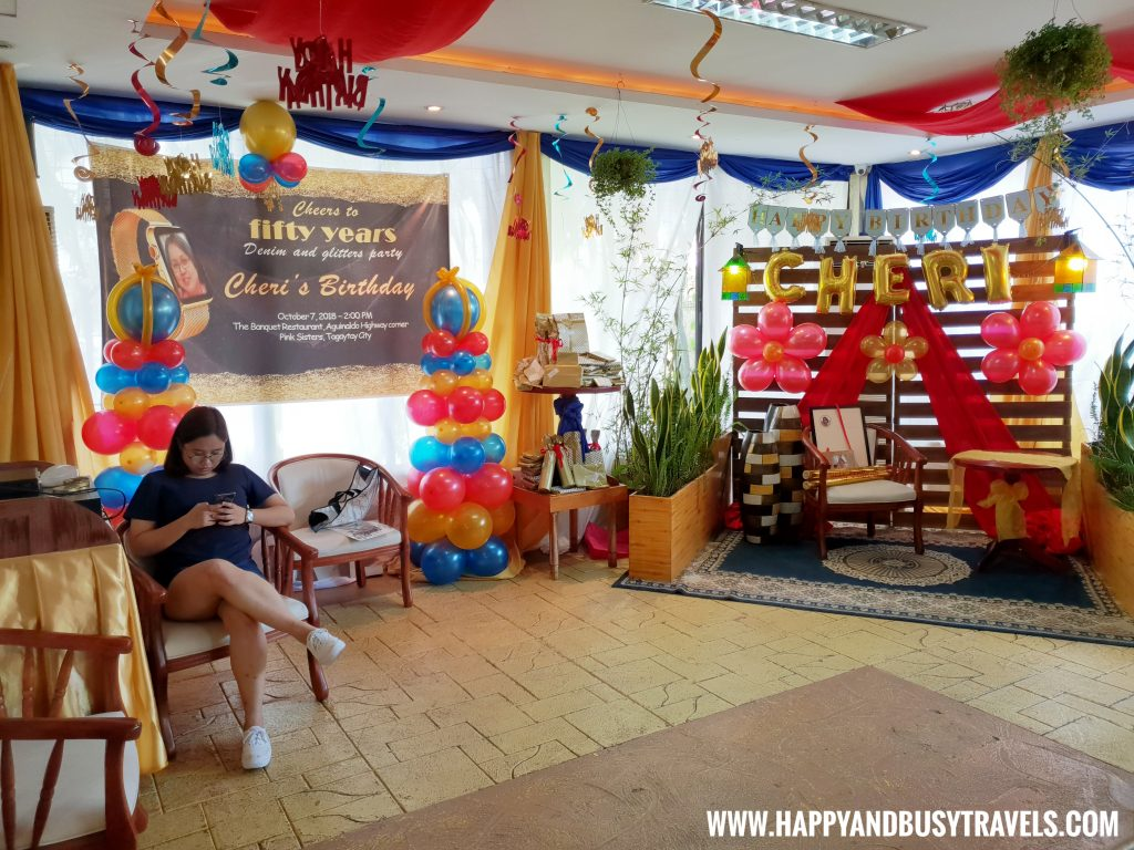 Events Area D' Banquet Bakeshop and Restuurant Happy and Busy Travels to Tagaytay