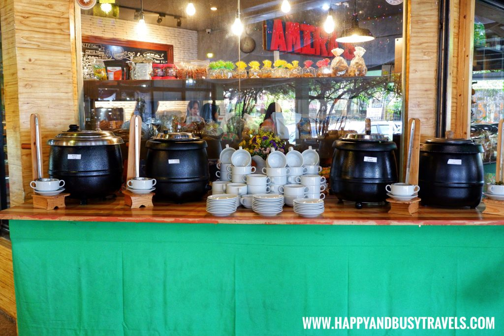 Soup Table D' Banquet Bakeshop and Restuurant Happy and Busy Travels to Tagaytay