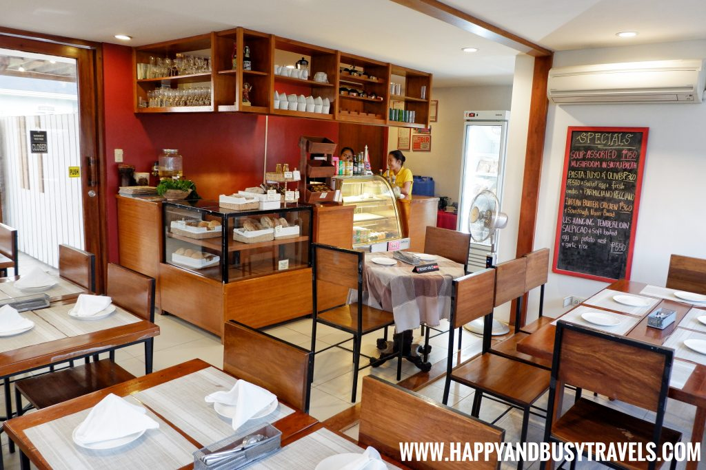 Inside Dining and the counter of Deli de San Honore Happy and Busy Travels to Tagaytay