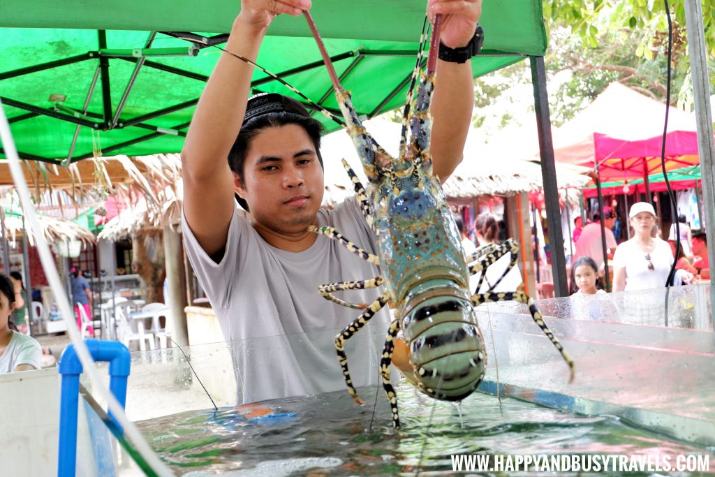 Giant Lobster at the Seafood Paluto of Boracay Island Now open to the public review of Happy and Busy Travels