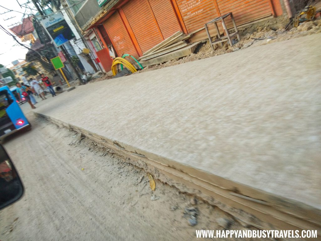 Road Under Construction at Boracay Island Now open to the public review of Happy and Busy Travels