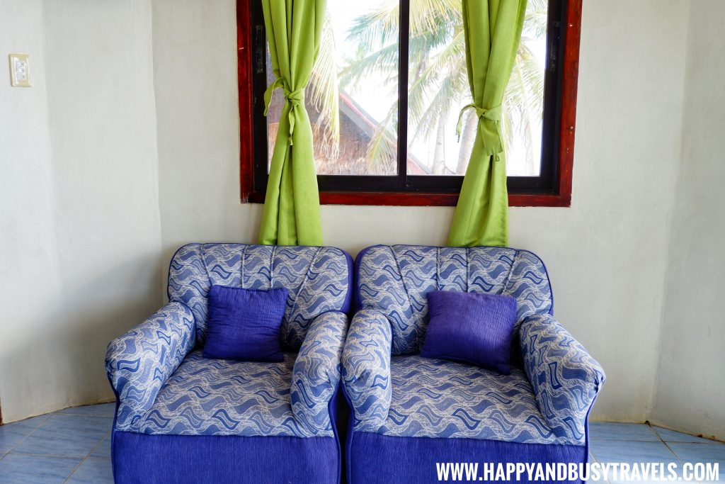 Sofa set at the upper floor of the Lighthouse Suite of Lanas Beach Resort Happy and Busy Travels to Carabao Island Romblon