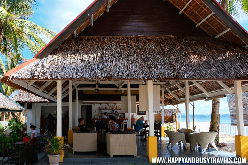 Lounge Bar and restaurant of Lanas Beach Resort Happy and Busy Travels to Carabao Island Romblon