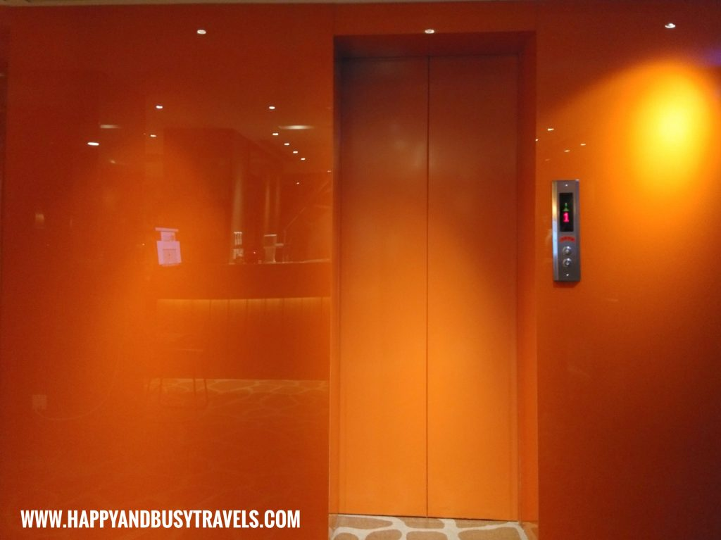 Orange elevator of Orange Hotel Kaifong Happy and Busy Travels to Taiwan