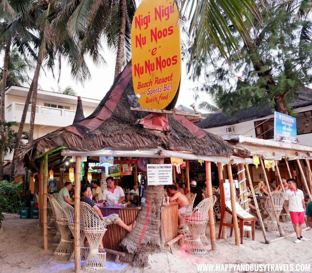 Entrance of nigi nigi nu noos 'e' nu nu noos beach resort Happy and Busy Travels to Boracay