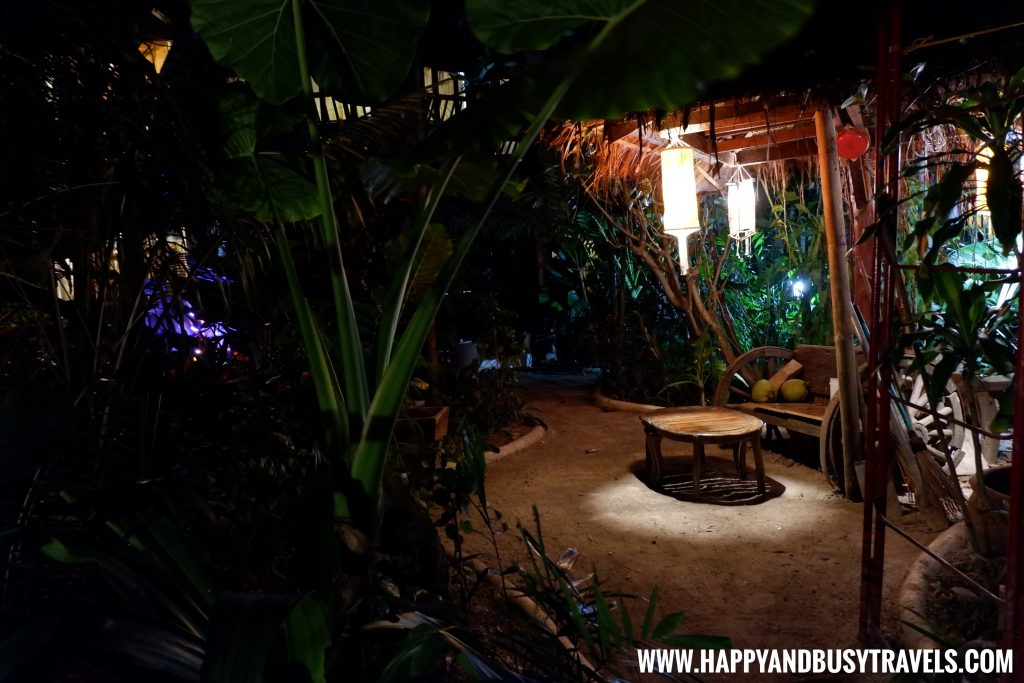 garden at night of nigi nigi nu noos 'e' nu nu noos beach resort Happy and Busy Travels to Boracay