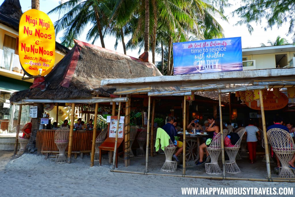restaurant of nigi nigi nu noos 'e' nu nu noos beach resort Happy and Busy Travels to Boracay