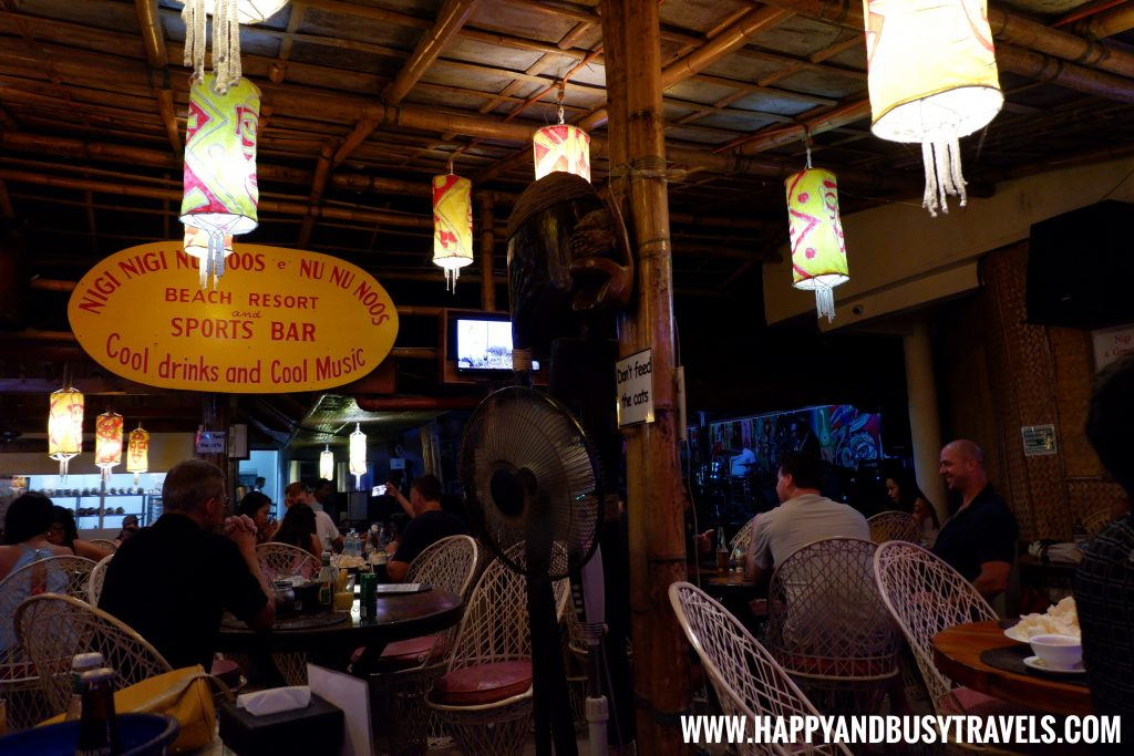 restaurant at night of nigi nigi nu noos 'e' nu nu noos beach resort Happy and Busy Travels to Boracay
