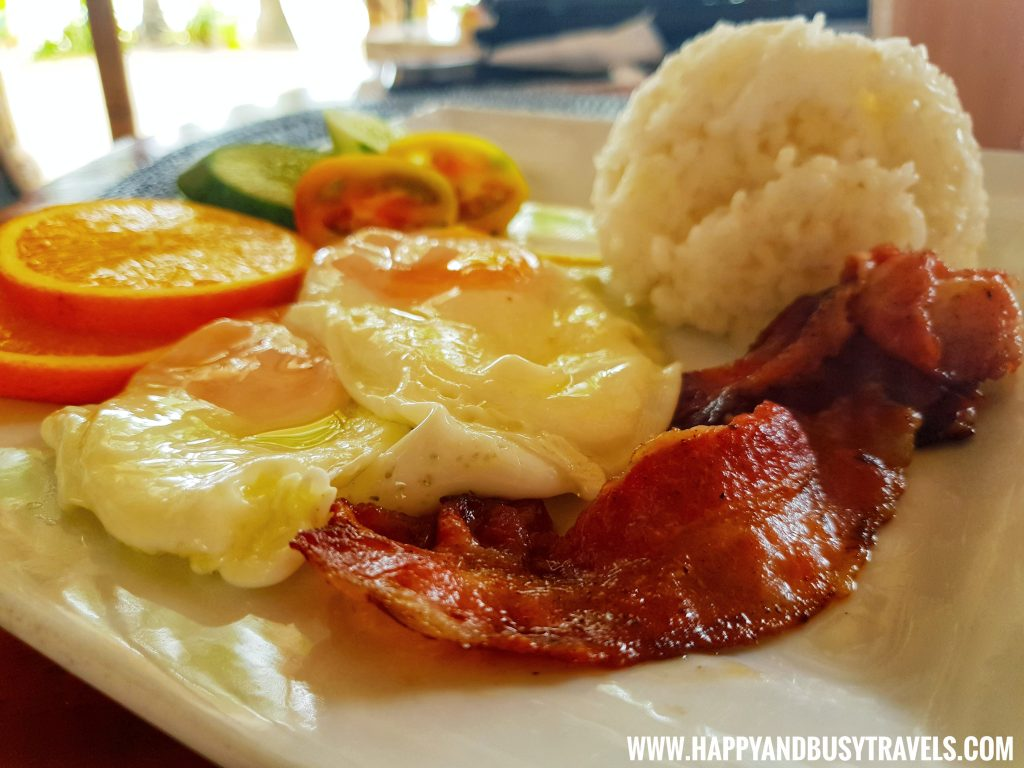 American Breakfast of nigi nigi nu noos 'e' nu nu noos beach resort Happy and Busy Travels to Boracay