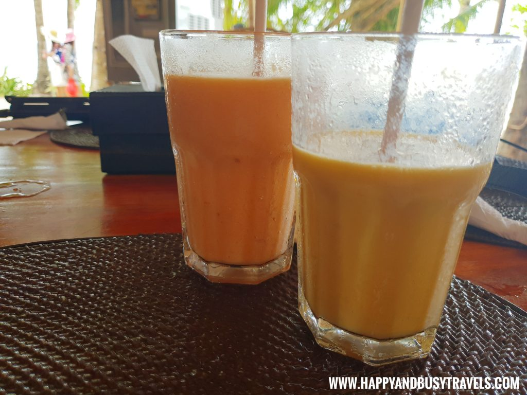 Fruit Shakes Mango and Watermelon BAnana nigi nigi nu noos 'e' nu nu noos beach resort Happy and Busy Travels to Boracay