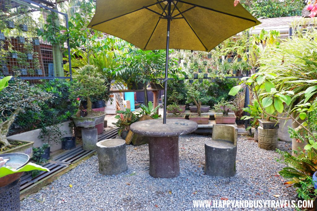 Garden chairs and tables of Chavez Estate review of Happy and Busy Travels to Tagaytay Silang Cavite