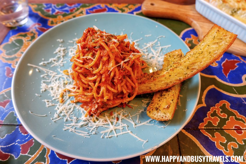 Vegan Bolognese Chavez Estate review of Happy and Busy Travels to Tagaytay Silang Cavite