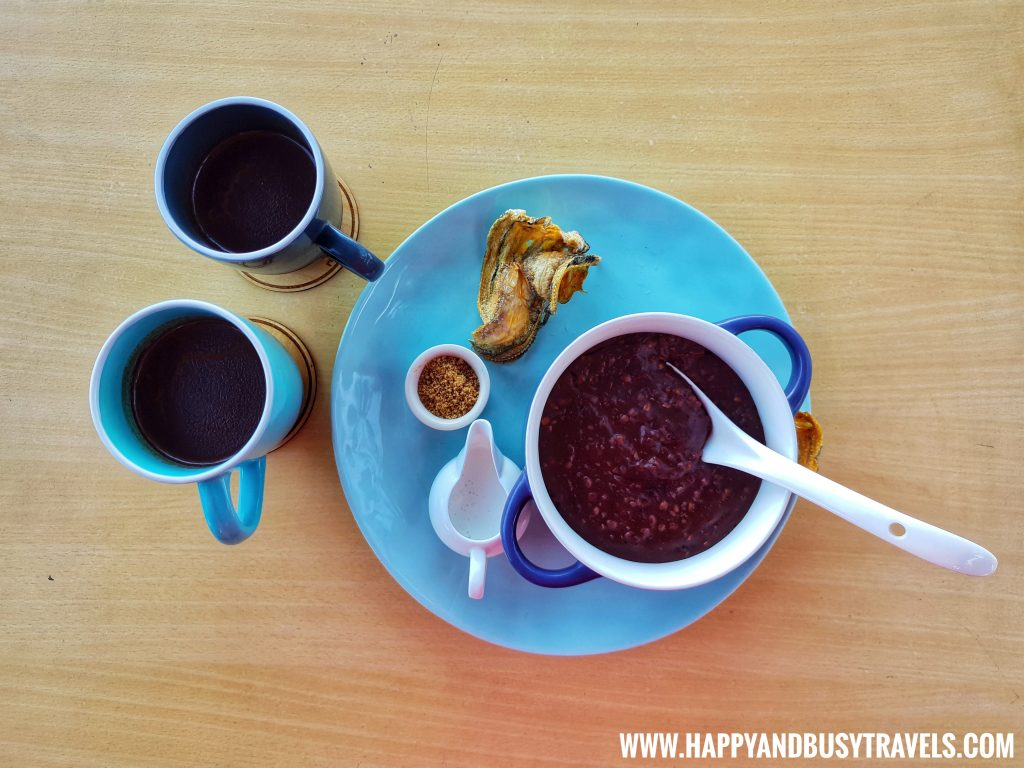 Adlai and Quinoa Champorado of Chavez Estate review of Happy and Busy Travels to Tagaytay Silang Cavite