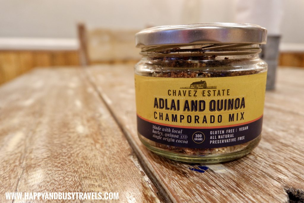 Adlai and Quinoa Champorado Mix Chavez Estate review of Happy and Busy Travels to Tagaytay Silang Cavite