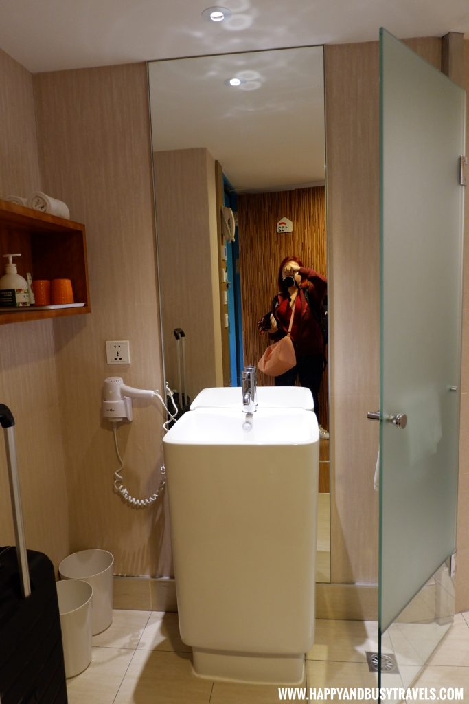 Comfort Room of Standard Guest room Orange Hotel Ximen review of Happy and Busy Travels to Taiwan