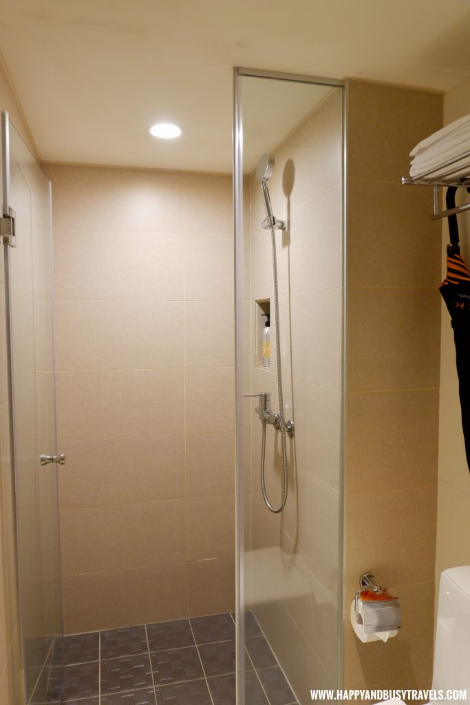 Shower Room Orange Hotel Ximen review of Happy and Busy Travels to Taiwan