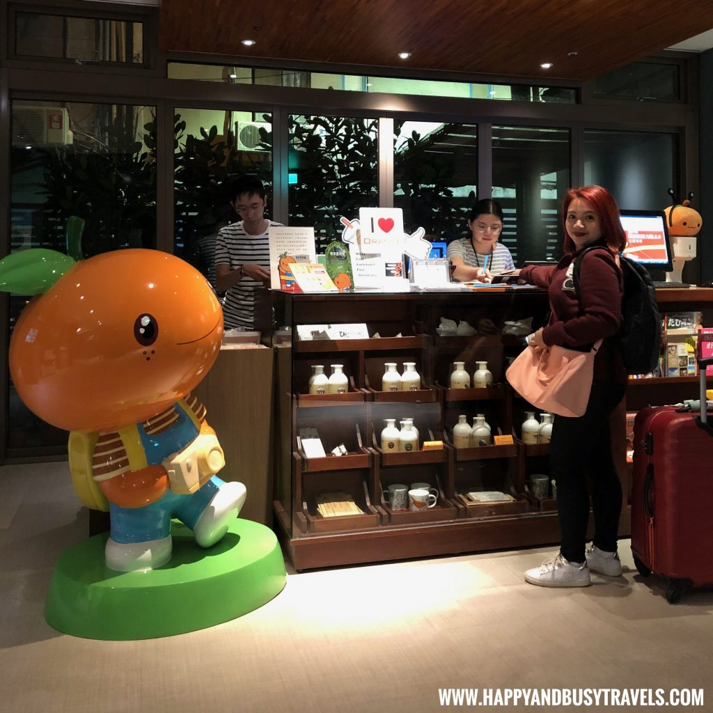 Checking in Orange Hotel Ximen review of Happy and Busy Travels to Taiwan
