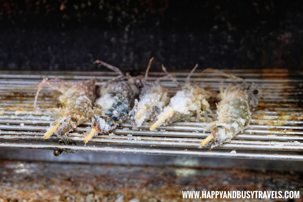 cooking the shrimp in Spring City Shrimp Fishing Restaurant of Happy and Busy Travels to Taiwan