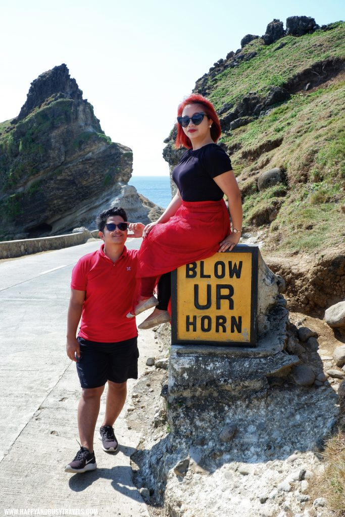 Blow Ur Horn Sign Alapad Rock Formation - Batanes travel guide and itinerary for 5 days 3 - Blow Ur Horn Sign - Happy and Busy Travels