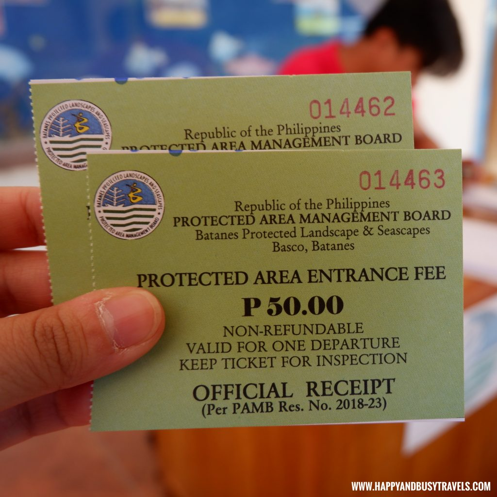 Entrance Fee in Basco Batanes - Batanes 5 day Itinerary of Happy and Busy Travels