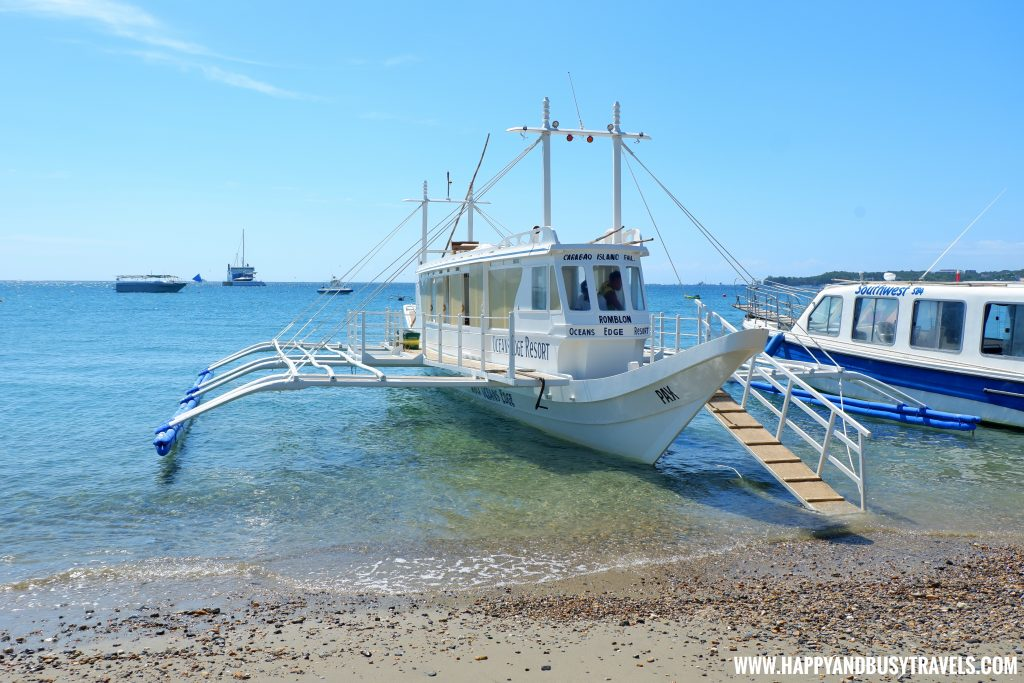 Boat to Ocean's Edge Resort Carabao Island Romblon Review Happy and Busy Travels
