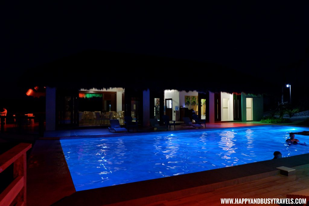 Swimming Pool at night Ocean's Edge Resort Carabao Island Romblon Review Happy and Busy Travels