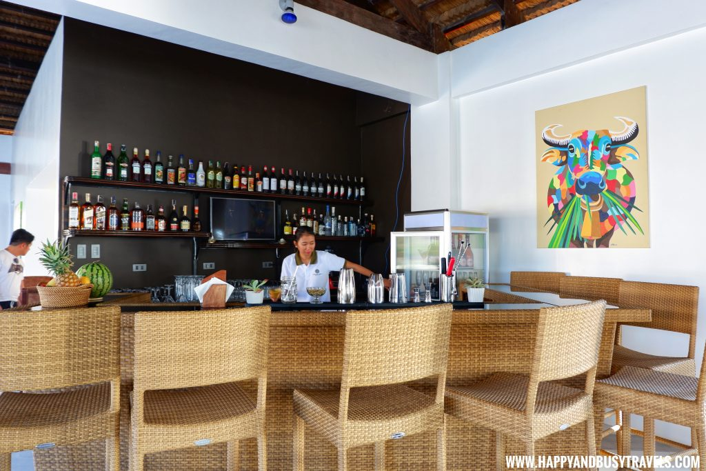 Bar at Ocean's Edge Resort Carabao Island Romblon Review Happy and Busy Travels