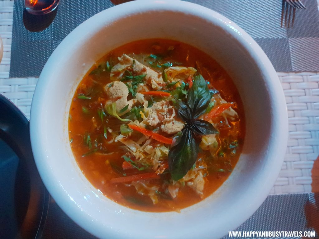 Chicken and Noodle Soup of Ocean's Edge Resort Carabao Island Romblon Review Happy and Busy Travels