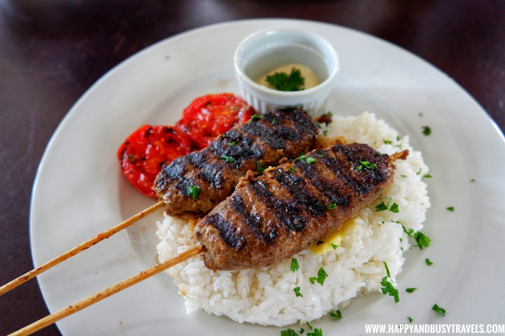 Beef Kebab The Farm Table Restaurant Yoki's Farm Mendez Cavite Happy and Busy Travels Review