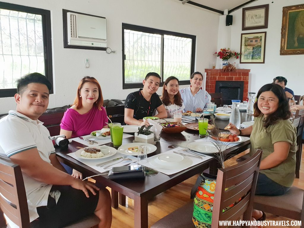 South Bloggers eating in the Farm Table
