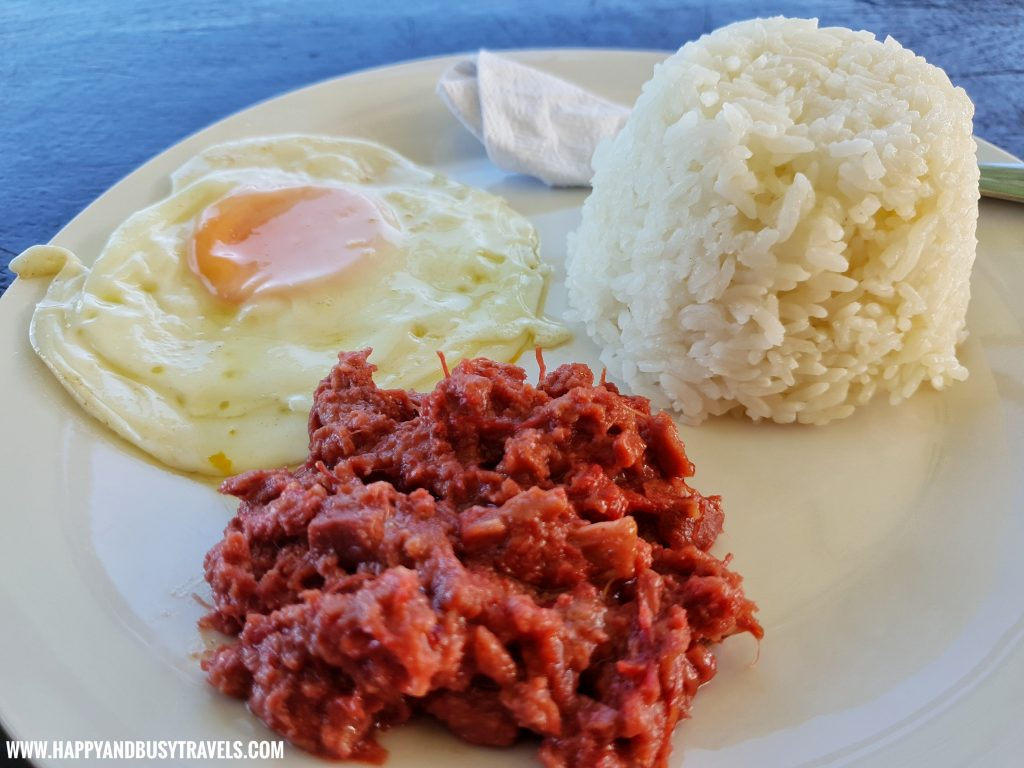 Club Tara Resort Surigao Del Norte Stilt Resort Corned Beef Breakfast food - Happy and Busy Travels