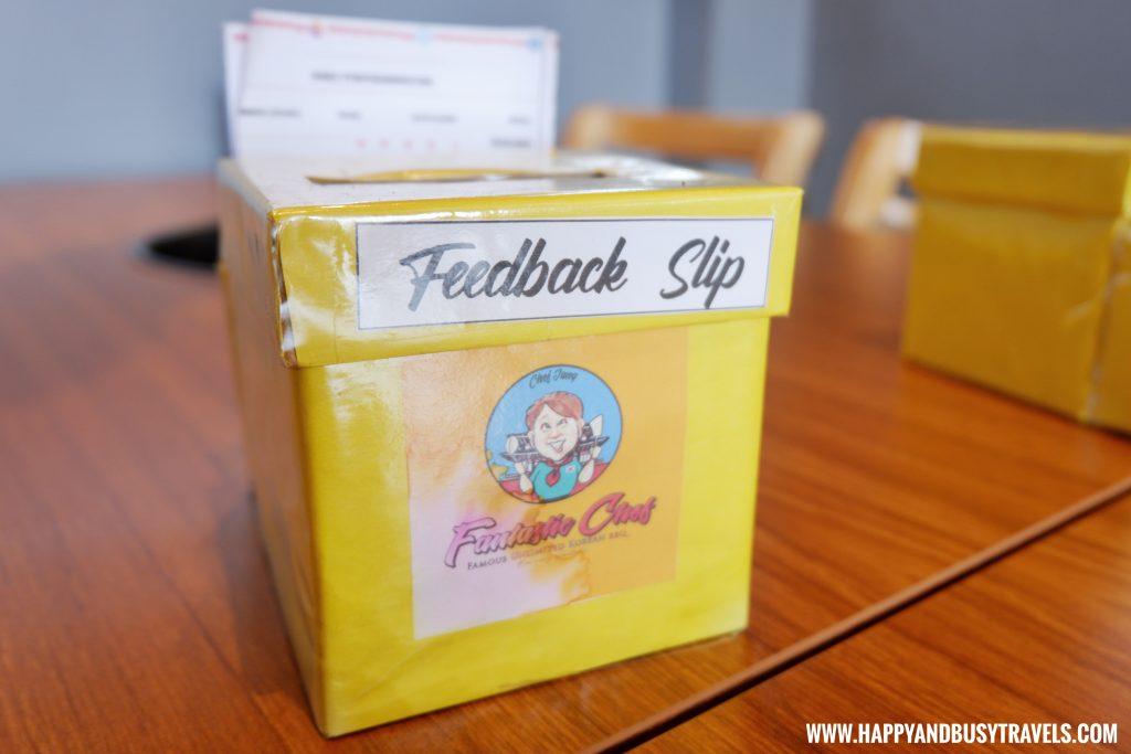 Fantastic Chef Remedios Samgyeupsal feedback form