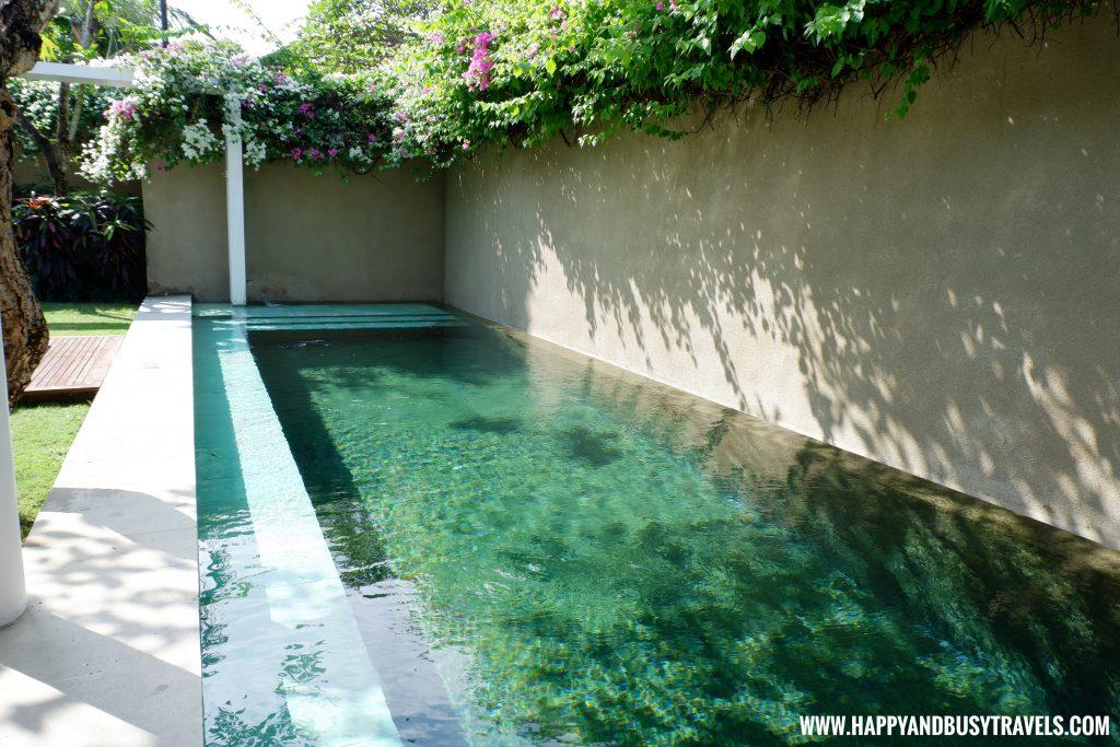 Swimming pool in royal villa of Uma Sapna Villa Hotel and Resort in Seminyak Kuta Bali Indonesia