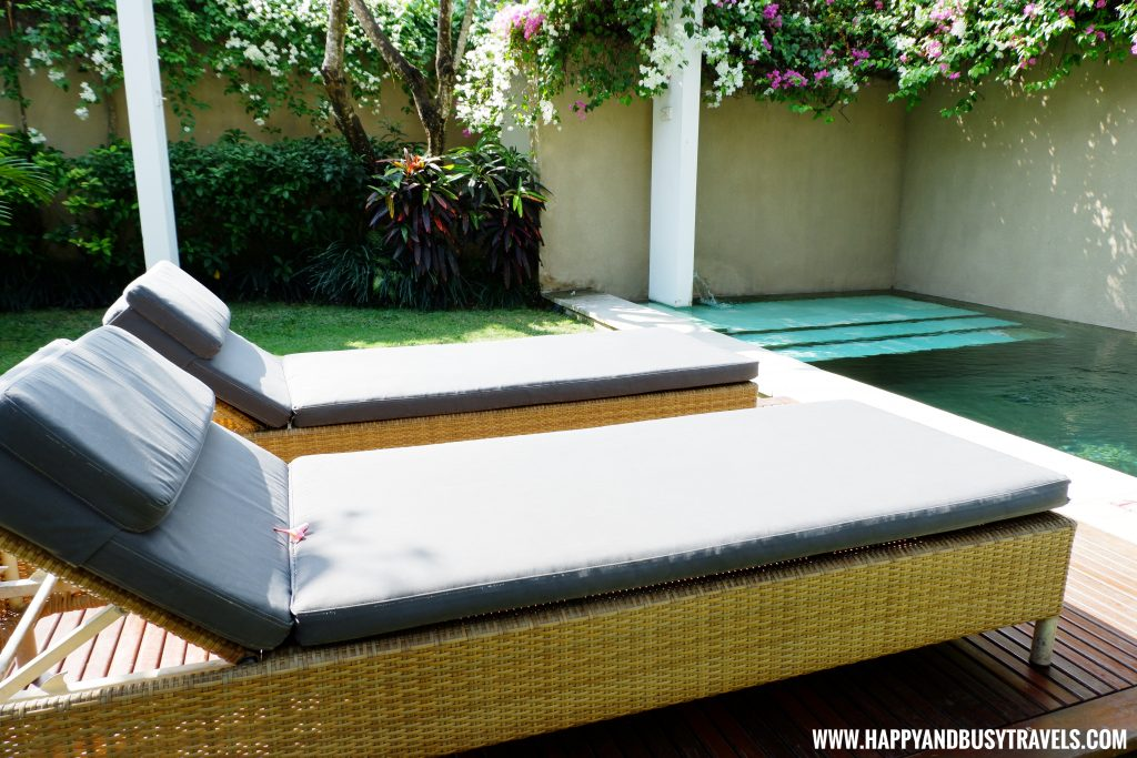 sunbathing beds in royal villa in Uma Sapna Villa Hotel and Resort in Seminyak Kuta Bali Indonesia