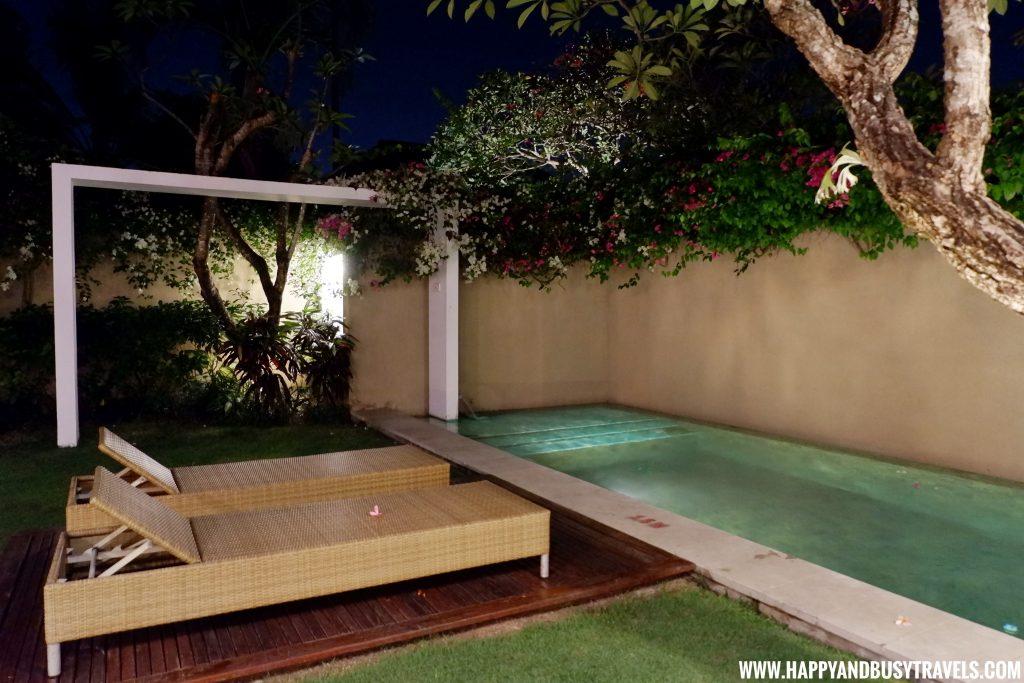 at night in royal villa Uma Sapna Villa Hotel and Resort in Seminyak Kuta Bali Indonesia