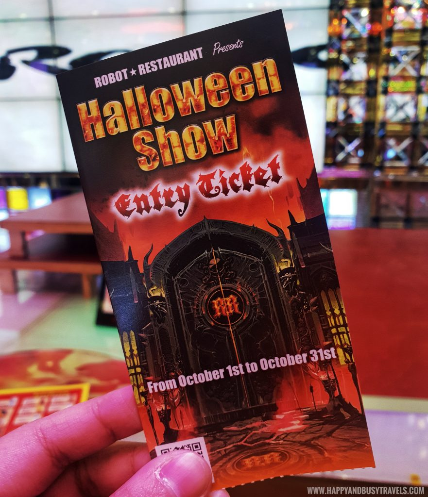 Halloween Show Entry Ticket