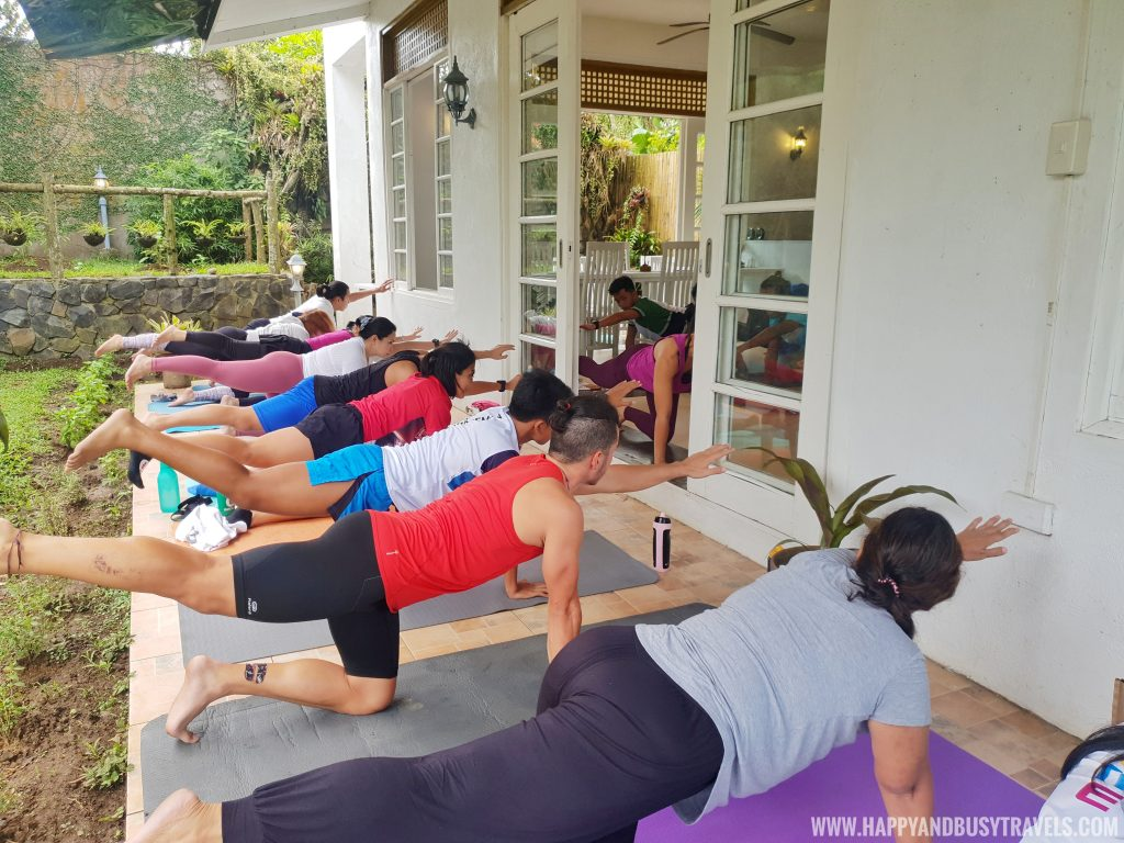 Yoga Session at The Vegan Lodge's Soft Opening