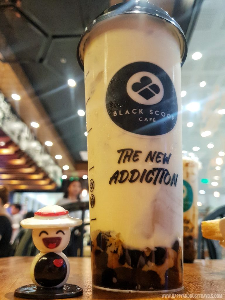 Cream cheese milk tea of Black Scoop Cafe SM Dasmarinas Cavite Branch review Happy and Busy Travels