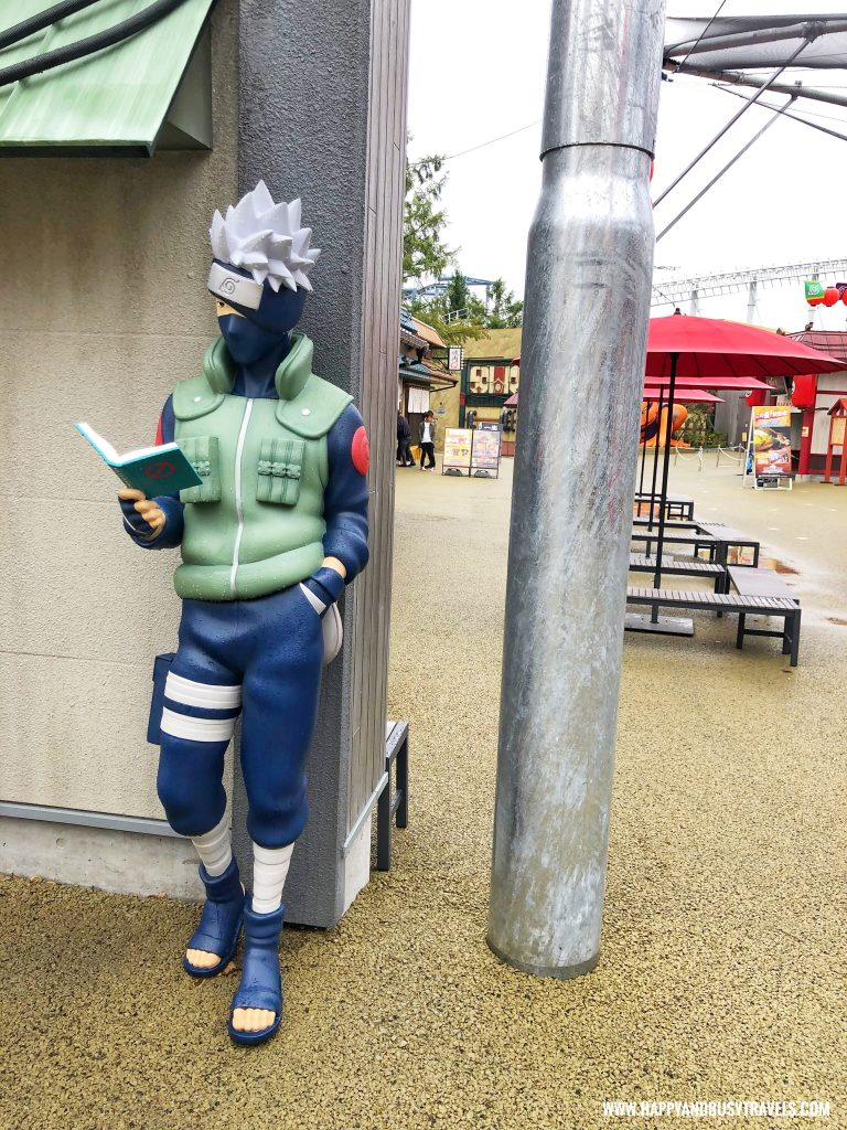 kakashi in Hidden leaf village or ninja village in Fuji Q Highland Amusement Park Tokyo Japan review and experience of Happy and Busy Travels