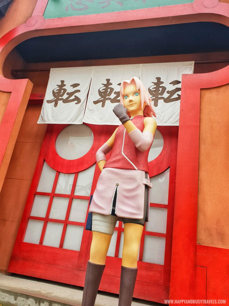 sakura Hidden leaf village or ninja village in Fuji Q Highland Amusement Park Tokyo Japan review and experience of Happy and Busy Travels