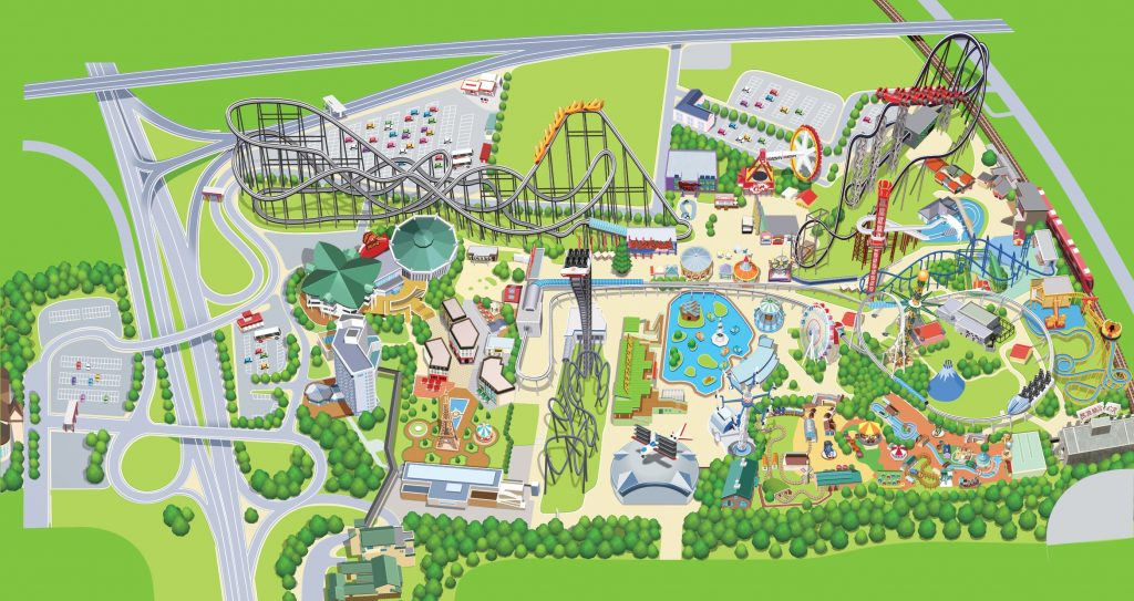 Map of Fuji Q Highland