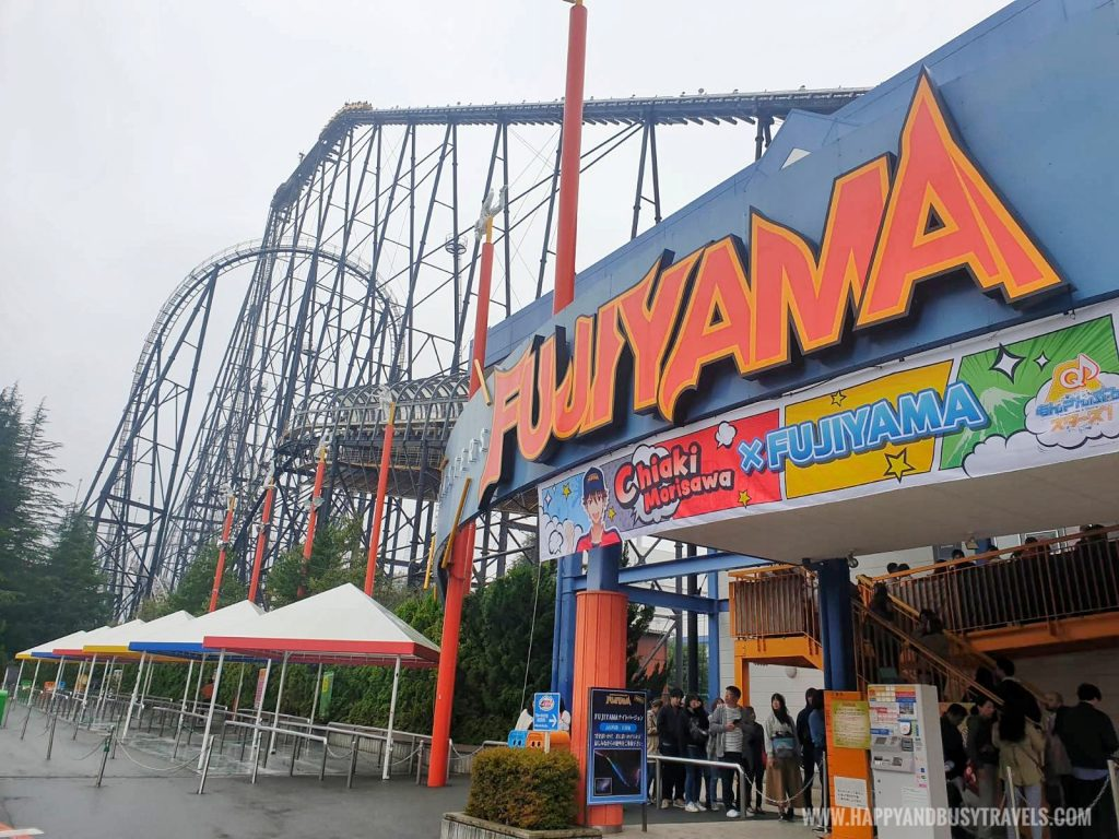 Fujiyama roller coaster ride in Fuji Q Highland Amusement Park Tokyo Japan review and experience of Happy and Busy Travels