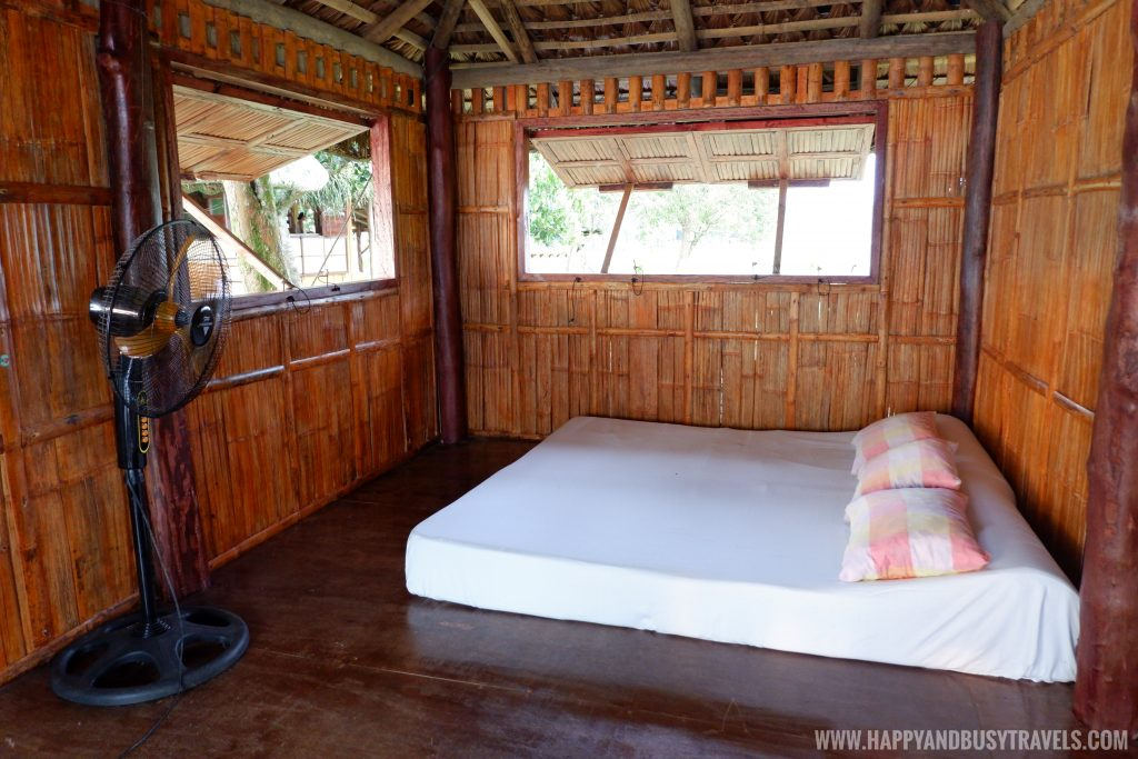 inside the nipa hut or kubo in Sierra Lake House Private Island for rent in Cavinti Laguna Happy and Busy Travels