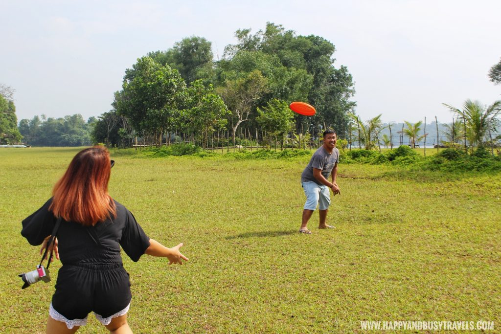 Frisbee in private island for rent in laguna