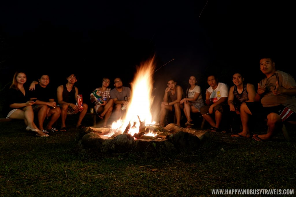 Bonfire in Sierra Lake House Private Island for rent in Cavinti Laguna Happy and Busy Travels