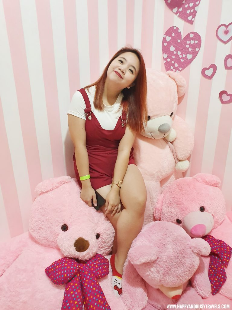 pink teddy bears in Bearseum teddy Bear Museum in Tagaytay City Happy and Busy Travels review