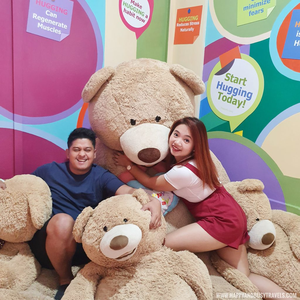hugging the brown teddy bears Bearseum Bear Museum in Tagaytay City Happy and Busy Travels review