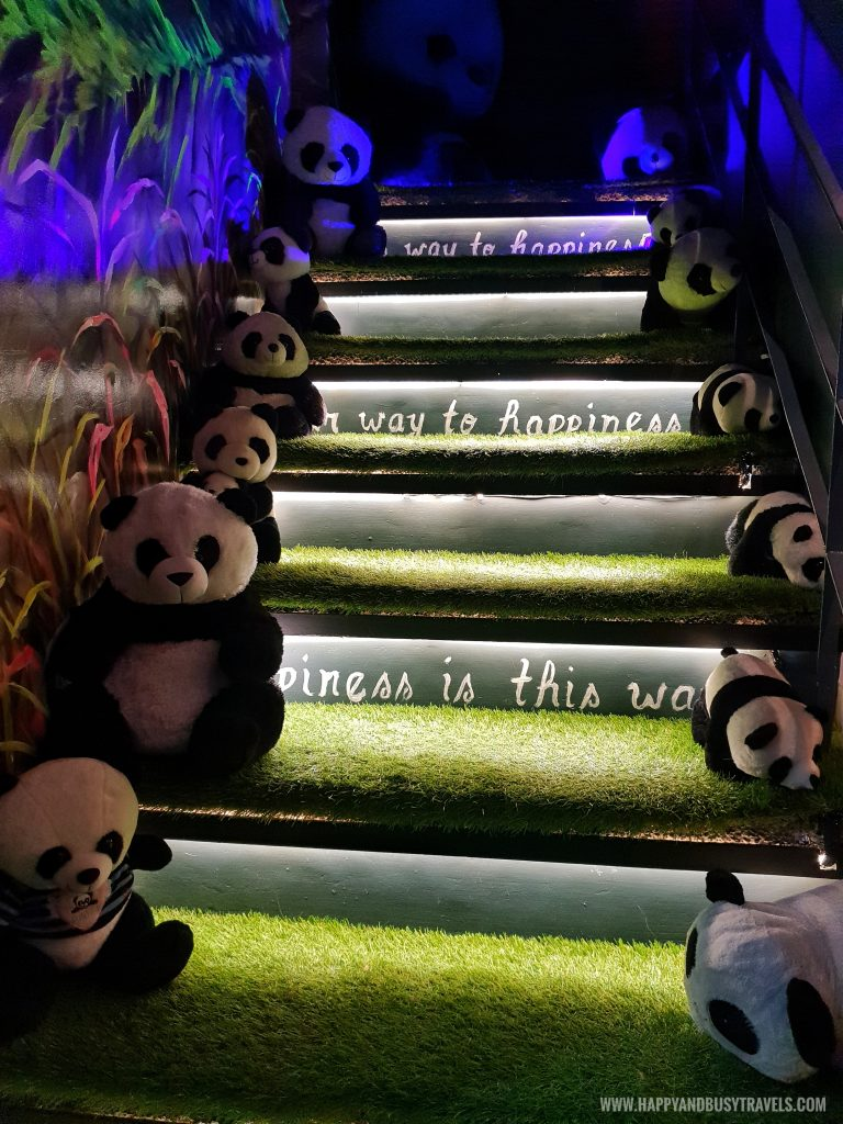 panda teddy bear stairs Bearseum Bear Museum in Tagaytay City Happy and Busy Travels review